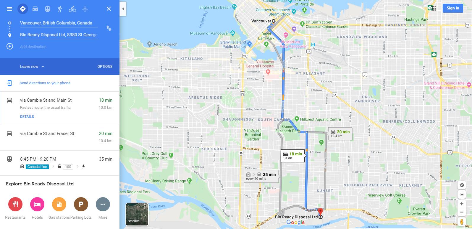 Bin Rental Services Vancouver
