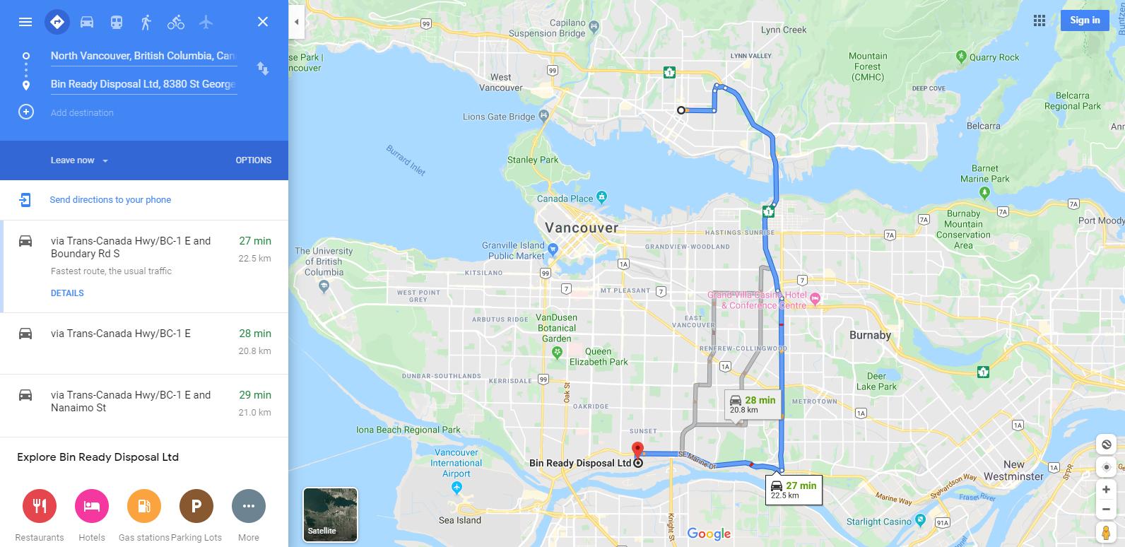 Bin Rental Services North Vancouver